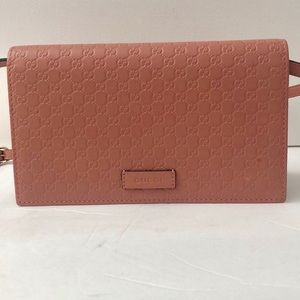 Guccissima GG Leather Crossbody Wallet Bag Purse